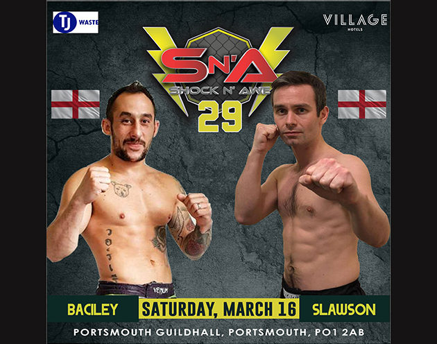 Adam Slawson vs Nathan Baciley meet in the Amateur Flyweight Division on Shock N Awe 29