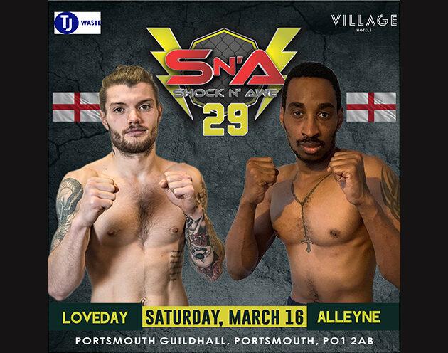 Loveday replaces Mogford against Alleyen at Shock N Awe 29