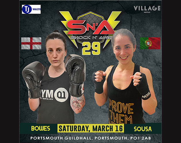 Zoe Bowes vs Nadia Sousa confirmed for Amateur K1 at Shock N Awe 29
