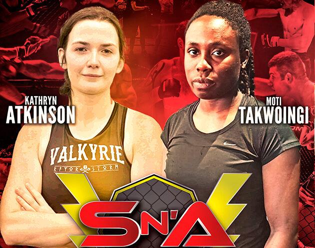 Flyweights Atkinson vs Takwoingi meet under amateur MMA rules at SNA 30