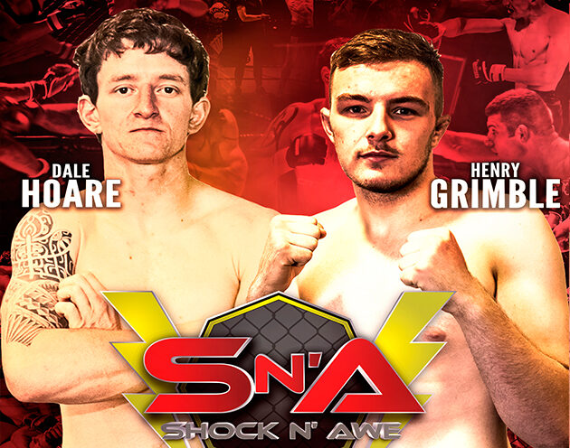 Henry Grimble takes on Dale 'The Dirty' Hoare for the vacant amateur lightweight strap at SNA 30