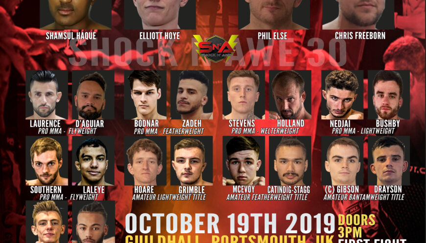 Full Fight Card now available for Shock N Awe 30