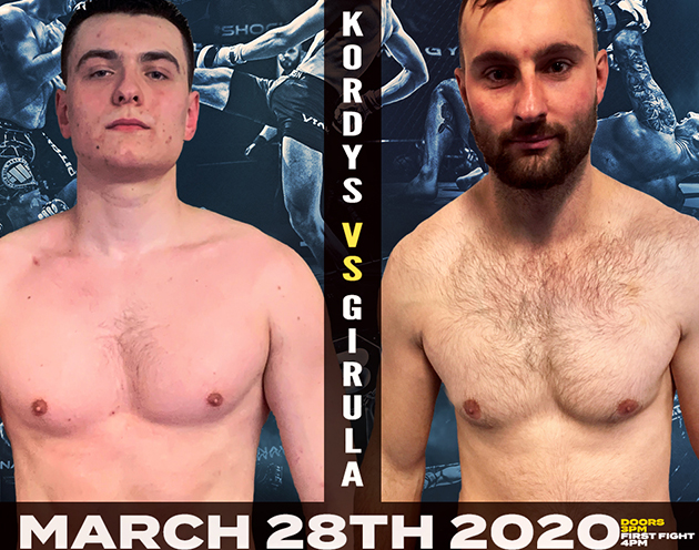 Middleweights Collide as heavy hitters Kordys and Gireula meet at Shock N Awe 31